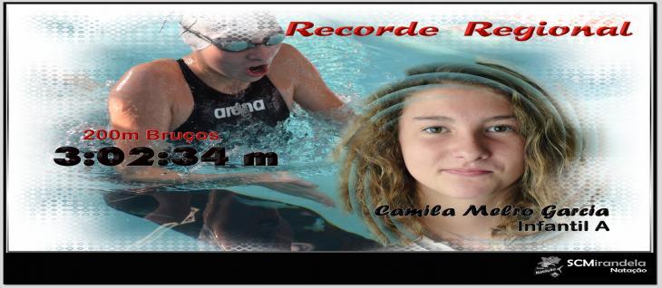 Camila Garcia bate Recorde Regional 200m Bruços  Infantil A ( 03:02:34m)